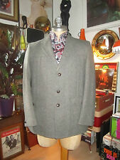 Vtg Wool Tweed Safari Hacking Jacket,Shooting Game Herringbone MOD.Medium vgc
