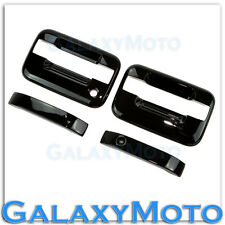 04-14 Ford F150 Truck Gloss Black 2 Door Handle+no keypad & no PSG keyhole Cover