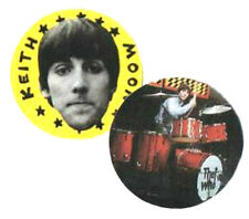2 KEITH MOON BADGES. The who, mod, scooter.
