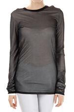 GARETH PUGH New Woman Black White Long Sleeve SIMPLE TOP T-shirt Blouse Sz 40 IT