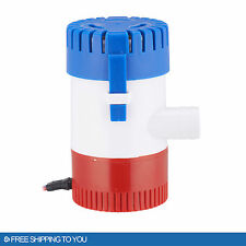 "New 12V 2.0A Submersible 500 GPH Bilge Pump for Marine Boat Yacht w/ 3/4"" Hose"