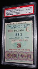 1962 WORLD CUP YUGOSLAVIA PETAR RADAKOVIC GAME WINNING GOAL MATCH #26 TICKET PSA