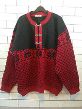 URBAN RENEWAL VTG AZTEC 90'S GRANNY KNIT OVERSIZED CLASP NORWEGIAN SWEATER #21
