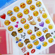 Hot Sale Stylish 48 Die Cut Emoji Smile Face Stickers Phone Tablet Laptop Decor