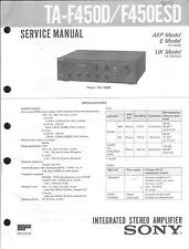 Sony Original Service Manual für TA-F 450 D/ESD