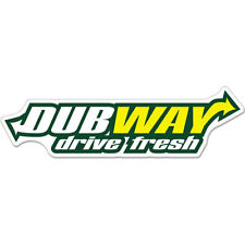 "Dubway Drive Fresh car bumper sticker decal 8"" x 3"""