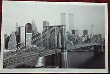 """New York skyline 24"""" x 36"""" poster Photography black and white WTC 911"""