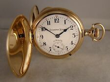 119 YEARS OLD COLUMBUS KING 23j 14k GOLD FILLED HUNTER CASE SIZE18s POCKET WATCH