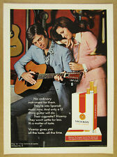 1971 12-string guitar man playing photo Viceroy Cigarettes vintage print Ad