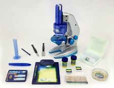 DELUXE SCIENCE KIT MICROSCOPE 32pc 100x600x1000 Complete Biology Science Set