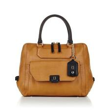 OH by Joy Gryson Leather Bowler Satchel Color: Croco embossed.