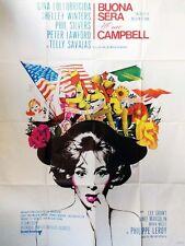 Affiche 120x160cm BUONA SERA MME CAMPBELL (1968) Gina Lollobrigida TBE #