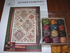 ROSEWOOD MANOR QUAKER DIAMONDS CROSS STITCH CHART & VALDANI THREADS PREORDER*
