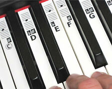 Music Keyboard Piano Note Stickers - 52 Labels (for 49-88 Keys) + Online Lessons