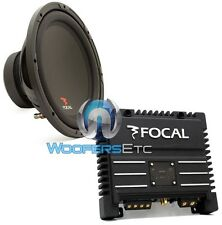 "pkg FOCAL SUB P30 12"" 500W 4-OHM SUBWOOFER SPEAKER + SOLID-2 2-CHANNEL AMPLIFIER"