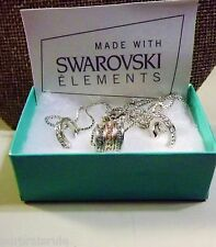 SWARVOSKI ELEMENTS CRYSTALS WHITE and ROSE GOLD TONE TRIO SET - NIB