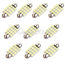 10X 39mm 3528 SMD 16 LED C5W Festoon Bombilla Coche interior Decoración DC 12V