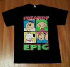 FAMILY GUY FREAKIN' EPIC Petter Stewie Brian Chris Griffin Black T-Shirt Medium