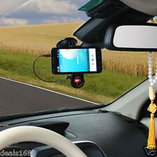 Car Kit FM Transmitter Handsfree Charger MP3 Mount Holder For iPhone Samsung