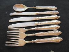 LBL ITALY SILVERPLATE FLATWARE  LB12 PATTERN 7 PIECES