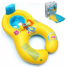 Inflatable Swimming Ring Mother & Baby Swim Float Raft Kid's Chair Seat Pool New