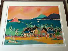"Jennifer Markes ""Coconut Bay"" Limited Edition Serigraph Print, VI/C, Framed"