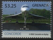 British Airways/BA CONCORDE G-BOAC Manchester Airport/Airliner Aircraft Stamp #1