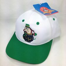 Taz Tasmanian Devil Leprechaun Pot Of Gold Shamrock Vtg Snapback Trucker Hat Cap