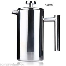 1000ML Stainless Steel Double Wall Cafetiere Filter Coffee Maker Plunger Kitchen
