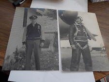 VINT SNAPSHOT PR OF PHOTOS ARMY AIRCORPS BOMBER PILOT IN GEAR AND OUT