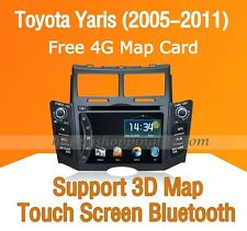 Car Dash DVD Player Radio GPS Navigation Bluetooth for Toyota Yaris 2005-2011