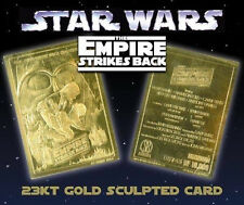 STAR WARS EMPIRE STRIKES BACK 23KT GOLD CARD