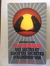 A LA RECHERCHE DES SECTES ET SOCIETES SECRETES D'AUJOURD'HUI 1978 SANDRI