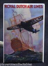 "Royal Dutch Airlines Vintage Travel Poster 2"" X 3"" Fridge Magnet. KLM Air"