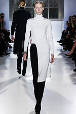 $1695 BALENCIAGA ASYMMETRIC TURTLENECK SWEATER DRESS SIZE 42 IT / 6 US