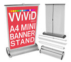 Retractable A4 Mini Table Top Banner Stand 8.3