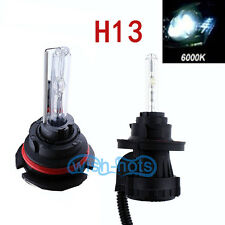 2X H13 6000K XENON HID AC HIGH LOW BEAM HEAD LIGHTS BULBS FOR GMC FORD DODG