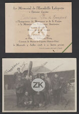 ESCADRILLE LAFAYETTE de GUINGAND AVIATION L'Equipage AUTOGRAPHES Photo+Doc 1928