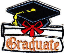 """GRADUATE"" PATCH-Iron On Embroidered Applique Patch/School, Children,College"