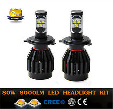 H4 9003 LED Headlight Conversion Kit 80w 8000lm CREE HI/LO Beam All In One