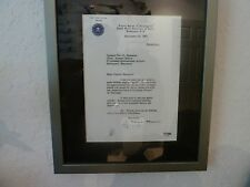 J. EDGAR HOOVER SIGNED LETTER THAT MENTIONS CLYDE TOLSON COA PSA/DNA