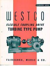 """Vintage """"WESTCO"""" Sales Brochure: TURBINE PUMP Model 6835"""