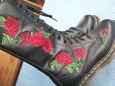 Dr Martens Womens Size 5 (UK 3) EU 36 Vonda Rose 14-Eye Side-Zip Boots