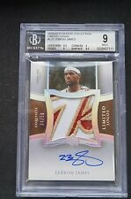 LeBron James 2004-05 UD Exquisite Collection Limited Logos Auto BGS9 Sick Patch