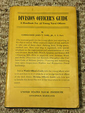 U.S. Navy Division Officer's Guide Handbook for Young Officers 1952 w/Dustjacket