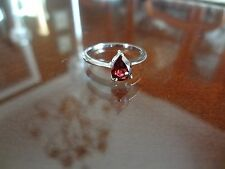 VINTAGE STERLING SILVER RING--925--SIZE--8 1/2--NICE STONE--