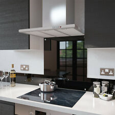 Black - 60cm x 75cm Glass Splashback with Fixing Holes