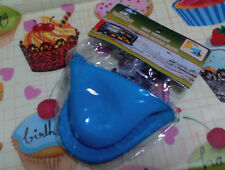 Blue Silicone Oven Mitten Pot Holder Baking Kitchen