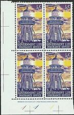 NEW ZEALAND 1969 Lighthouse ½c plate block # 1 1 1 MNH.....................50199