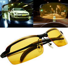Fashion Yellow Lens Night Vision Driving Glasses Polarized Aviator UV Sunglasses